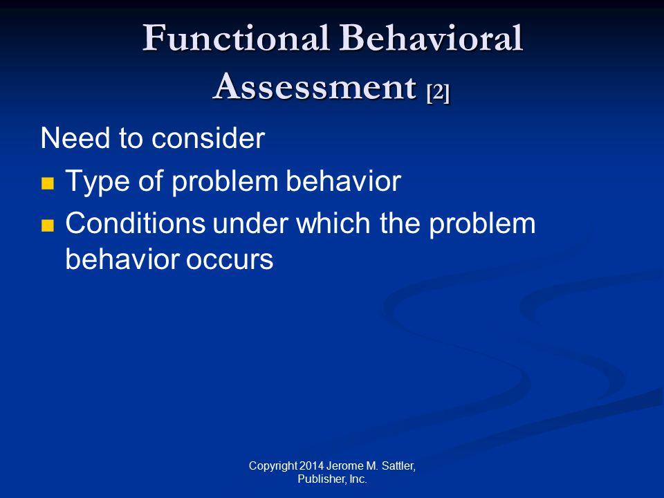 Functional Behavioral Assessment [2]
